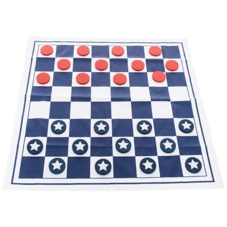 Professor Puzzle Americana Giant Checkers Game