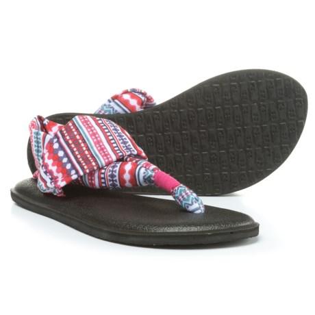 Sanuk Yoga Sling Burst Prints Sandals (For Girls)