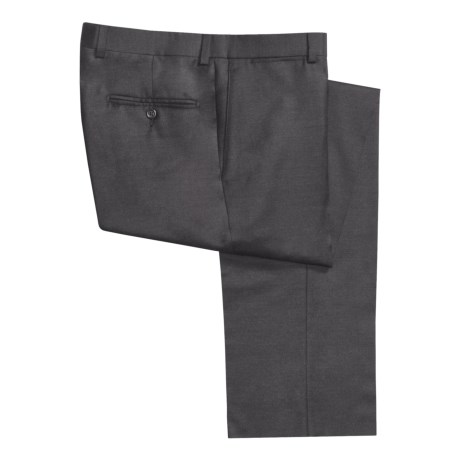 Riviera Worsted Wool Flannel Dress Pants - Flat Front (For Men)