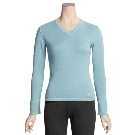 Pacadudz Ribbed V-Neck Sweater - Cotton-Alpaca (For Women)