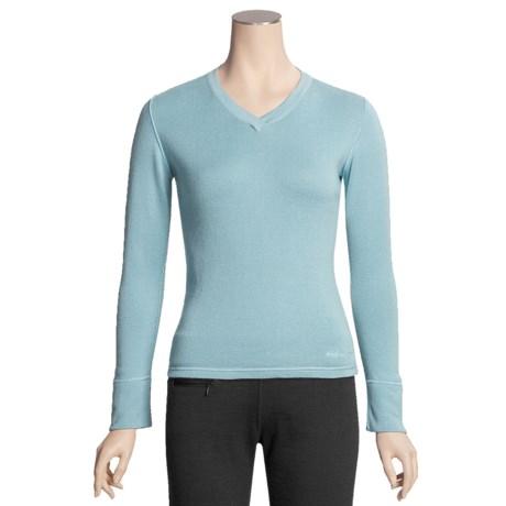 Pacadudz Ribbed V-Neck Sweater - Cotton-Alpaca (For Women)