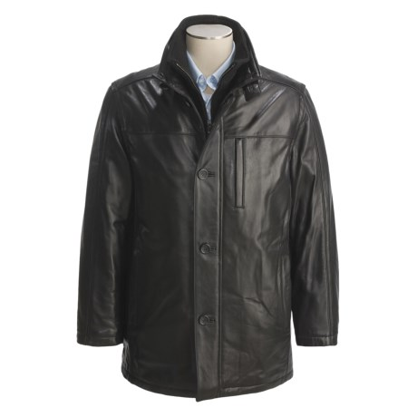 Marc New York by Andrew Marc Leather Car Coat - Smooth Lamb, Insulated (For Men)