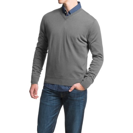 Toscano V-Neck Sweater - Merino Wool (For Men)