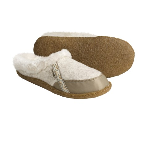 Sorel Felt Nakiska Slippers - Faux-Fur Lining (For Women)