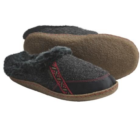 Sorel Felt Nakiska Slippers - Faux-Fur Lining (For Women)