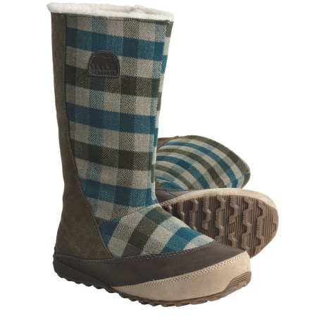 Sorel MacKenzie Slip Holiday Snow Boots - Tall, Fleece-Lined (For Women)