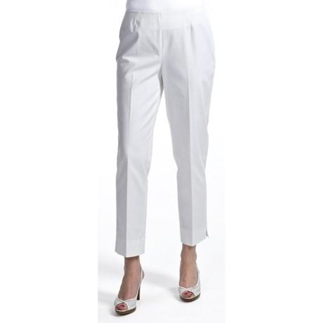 Lafayette 148 New York Bleecker Side Zip Ankle Cropped Pants - Jodhpur Cloth (For Women)