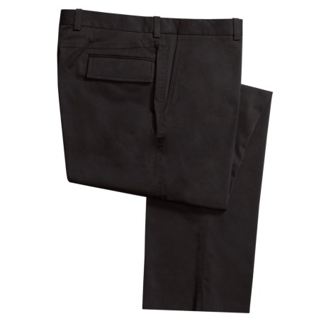 Riviera Cotton Twill Pants - Flat Front, Flap Pockets (For Men)