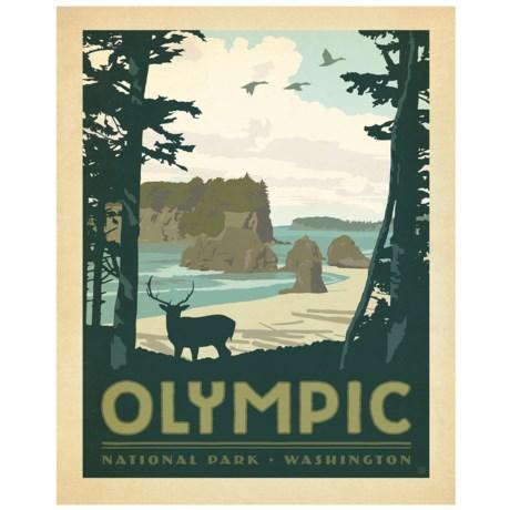 "Portfolio Arts Group Olympic National Park Canvas Print - 16x20"""
