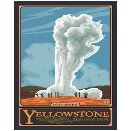 "Portfolio Arts Group Yellowstone Old Faithful Print - 16x20"""