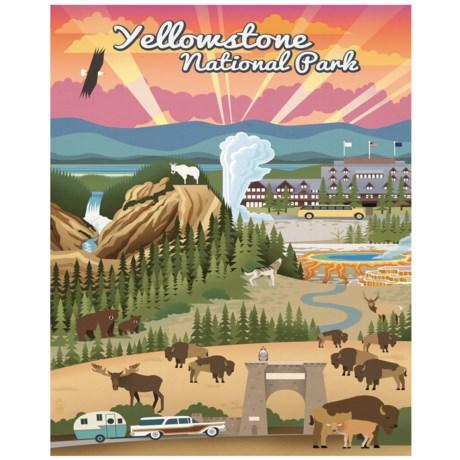 "Portfolio Arts Group Yellowstone National Park Station Wagon Canvas Print - 16x20"""