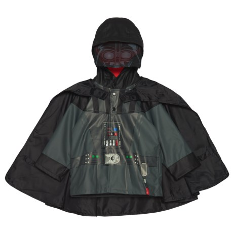 Western Chief Star Wars Darth Vader Hooded Rain Jacket with Snap-Off Cape (For Toddler and Little Boys)