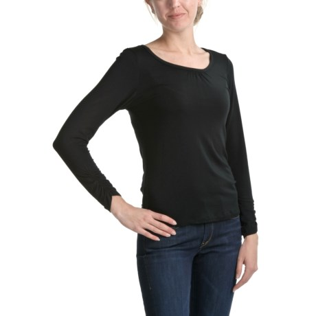 Apropos Ruched Stretch Jersey Shirt - Long Sleeve (For Women)