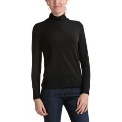 Apropos Ruched Jersey Turtleneck - Long Sleeve (For Women)