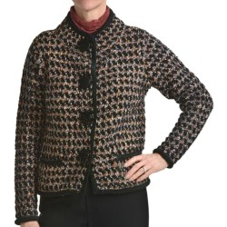 Apropos Tribecca Tweed Crop Sweater (For Women)