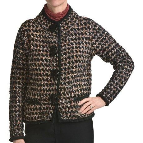 Nomadic Traders Apropos Tribecca Tweed Crop Sweater (For Women)