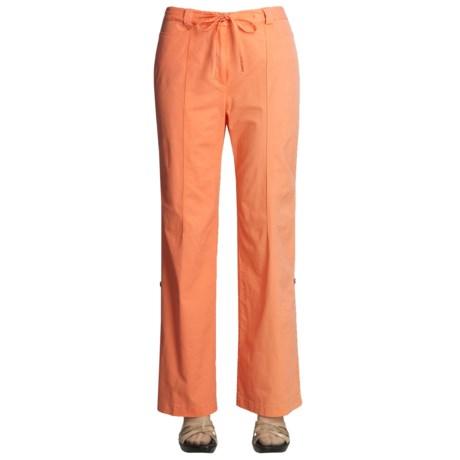 Linea Blu Stretch Cotton Pants - Drawstring, Convert to Capris (For Women)