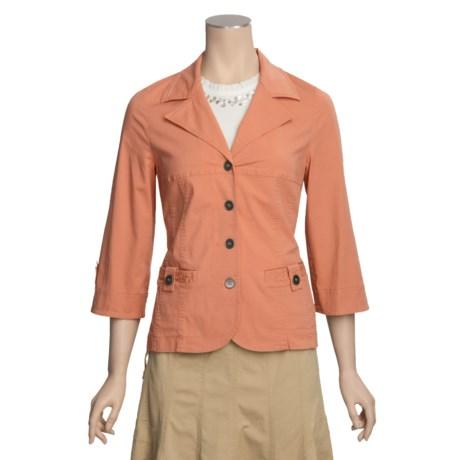 Linea Blu Notch Collar Jacket - 3/4 Sleeve (For Women)