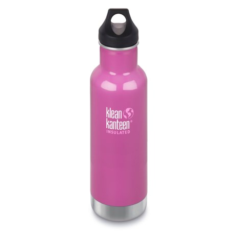 Klean Kanteen Classic Vacuum-Insulated Stainless Steel Water Bottle - 20 oz., BPA-Free
