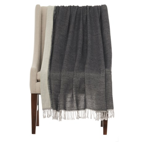 "Melange Home Lightweight Throw Blanket - 50x70"", Merino Wool"