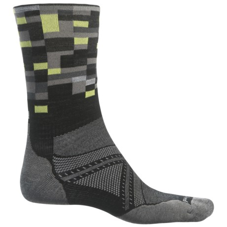 SmartWool PhD Run Light Elite Patterned Socks - Merino Wool, Crew (For Men)