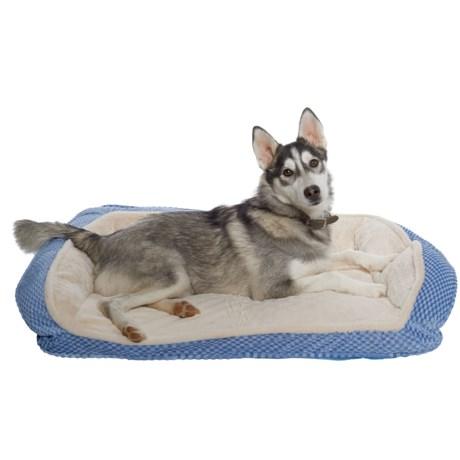 "Comfortable Pet Orthopedic Foam Plush Cuddler Dog Bed - 33x26"""