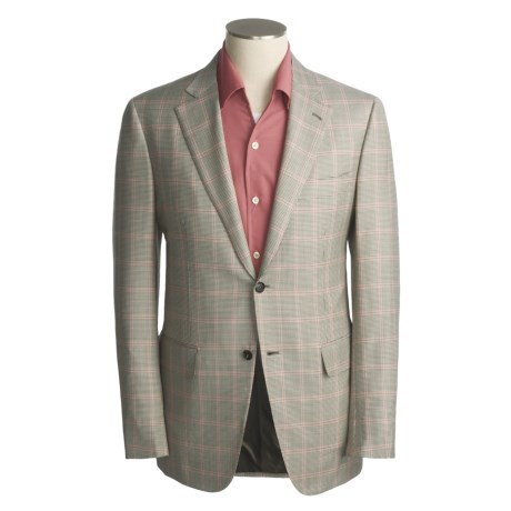 Isaia Houndstooth-Windowpane Sport Coat - Superfine Wool (For Men)
