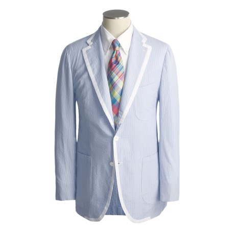 Isaia Stripe Sport Coat - Cotton (For Men)