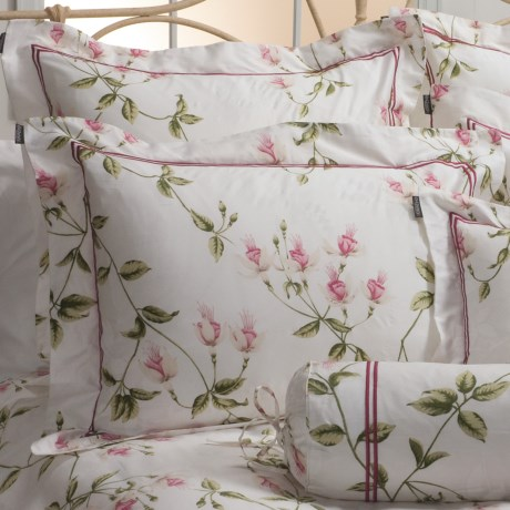 Christy Trailing Fuchsia Pillow Sham - King