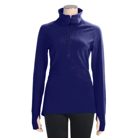 Snow Angel Vixen Velour Base Layer Top - Zip Neck, Long Sleeve (For Women)