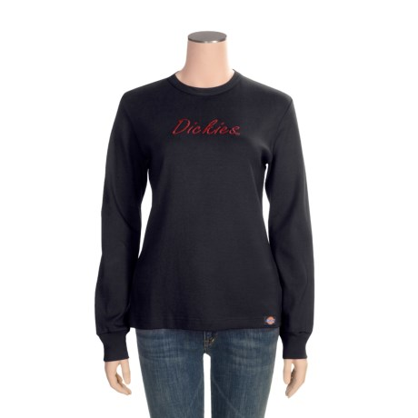 Dickies Cotton T-Shirt - Long Sleeve (For Women)