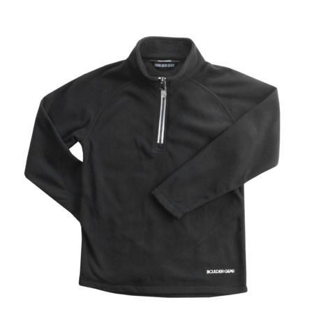 Boulder Gear Ruby Pullover Shirt - Zip Neck, Microfleece, Long Sleeve (For Girls)