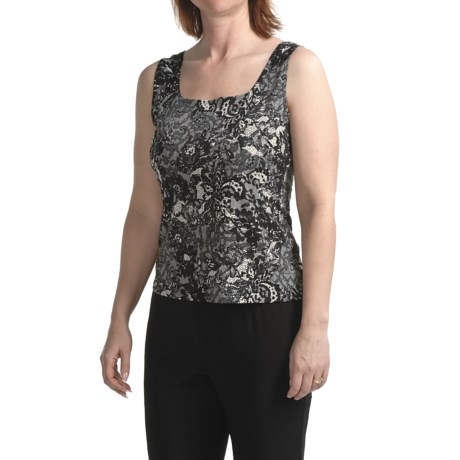 Tiana B Lace Print Tank Top (For Women)