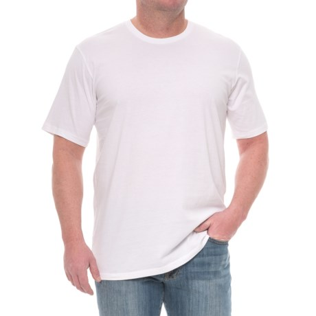 Mott and Grand Solid Crew Neck T-Shirt - Short Sleeve (For Tall Men)