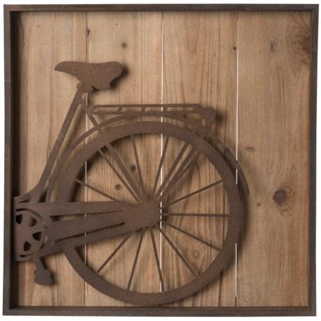 "Cheung's Rattan Metal Bicycle Wall Art - 22x22"""
