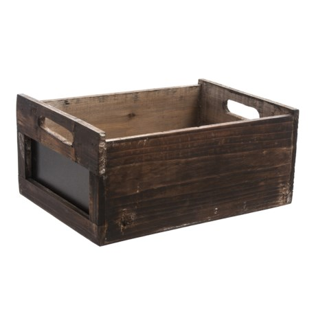 Cheung's Rattan Wood Crate with Chalkboard Side - Large