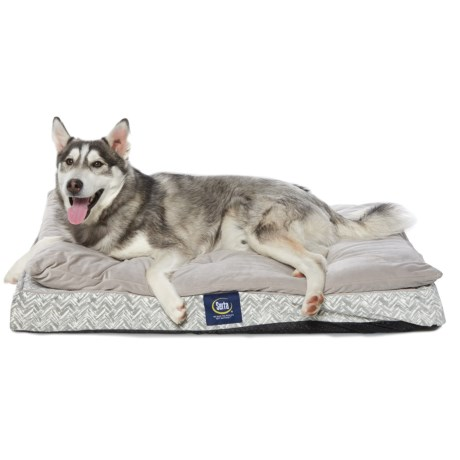 "Serta Chevron Ultra Pillow-Top Dog Bed - 36x27"""