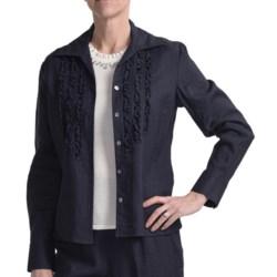 Amelia Austin Washed Linen Shirt - Ruffle, Long Sleeve (For Women)