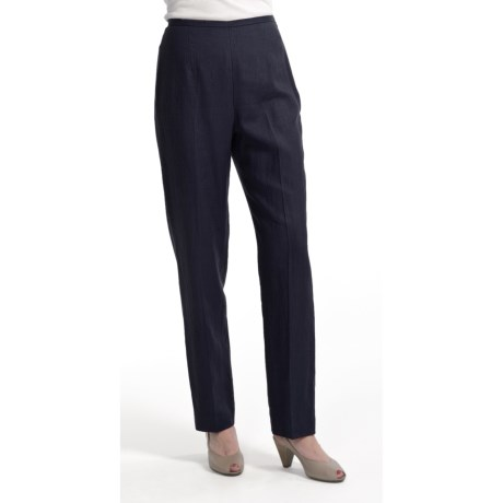 Amelia Austin Washed Linen Pants - Tapered Leg (For Women)
