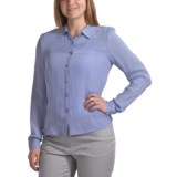 Silk Georgette Shirt - Long Sleeve (For Women)