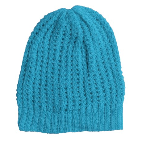San York Honeycomb Beanie Hat - Alpaca (For Women)