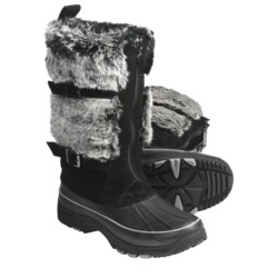 Khombu Arctic Zip Winter Boots - Waterproof, Plush Faux-Fur Lining (For Women)
