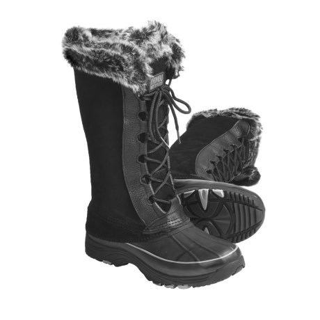 Khombu Highland High Suede Pac Boots - Waterproof, Plush Faux-Fur Lining (For Women)