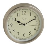 """Equity by La Crosse Technology Wall Clock - 8"""", Brushed Titanium"""
