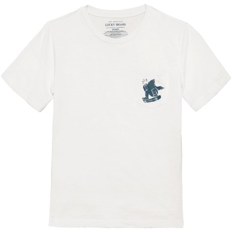 Lucky Brand Pocket T-Shirt - Crew Neck, Short Sleeve (For Big Boys)