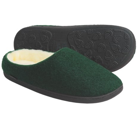 Acorn Boiled Wool Mule Slippers (For Men)