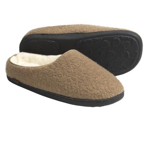 Acorn Boiled Wool Mule Slippers (For Men)