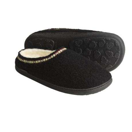 Acorn Boiled Wool Mule Slippers (For Women)