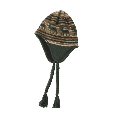 Screamer Caribou Hat - Fleece Lining, Ear Flaps (For Men and Women)
