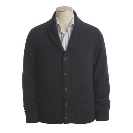 Toscano Shawl Collar Cardigan Sweater - Lambswool (For Men)